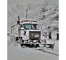Neighborhood Snow Plow Photographic Print