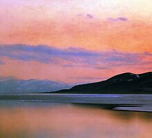 Utah Lake - Panoramic Sunset by Ryan Houston
