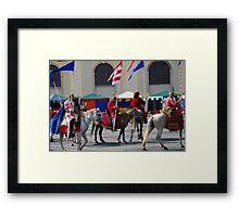 Medieval knights parade Framed Print