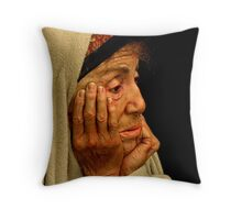 Profile Of The Remaining Time Throw Pillow