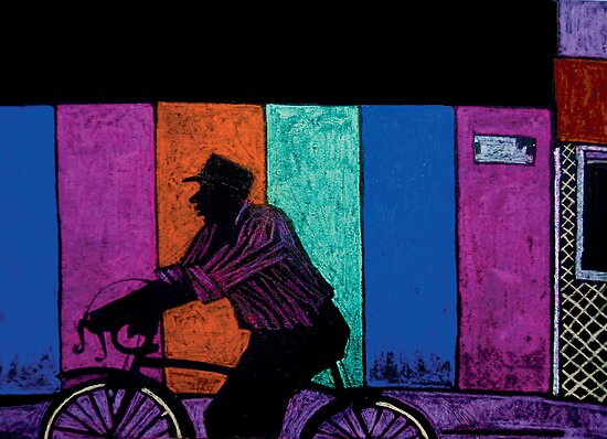 Bicyclist by Yulja Blucher