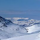 Snowy mountains by Braedene