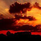 Clouds in red by newfan