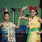 Young Thai Dancers by Nicholas Richardson