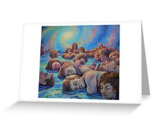 Asleep in A Dream of Life Greeting Card