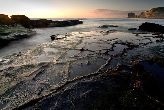 Low Tide, Maori Bay by Michael Treloar