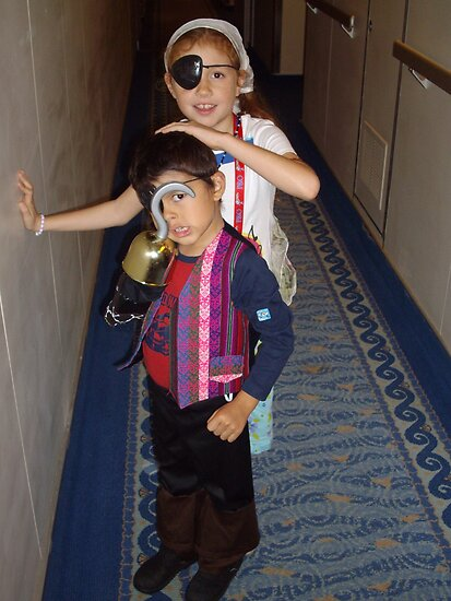 Two Kids Dressed up for A Pirate Night. by Mywildscapepics