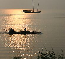 Disappearing Heritage - Sunrise over Lake Tai by Mark Bolton