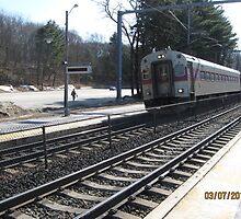 MBTA Commuter Line inbound to Boston by Eric Sanford