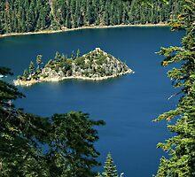 Fannette Island in Emerald Bay by TeresaB