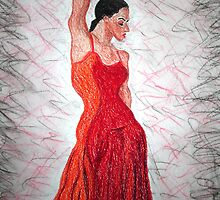 Flamenco Flame by Fiona  Lohrbaecher