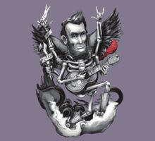 Music T-Shirts: Rock N Roll Lincoln Drawing by jimiyo