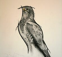 The Black Kite - Charcoal - English Willow by RodneyCleasby