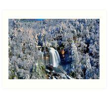 A Winter Blast at Whitewater Falls Art Print