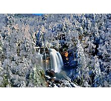 A Winter Blast at Whitewater Falls Photographic Print