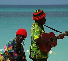 beach singers 7 mile beach Jamaica by jeanlphotos