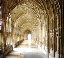 Gloucester cathedral, cloisters by artfulvistas
