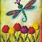 Dragonfly &amp; Tulips by sandygrafik