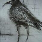 Crow (still life) by sandrarosiak