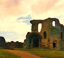 Denbigh Castle, in North Wales by artfulvistas