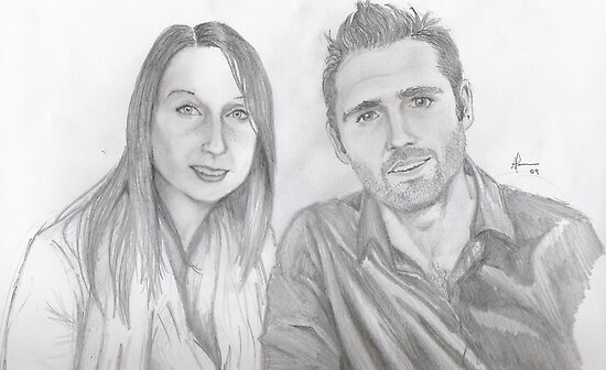 portrait of Gareth and Jan by Andrew Pearce