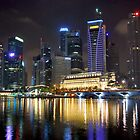 Singapore by night by Adri  Padmos