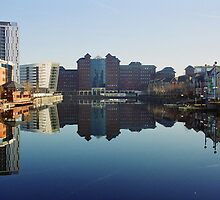 Salford Quays Reflection by sledgehammer