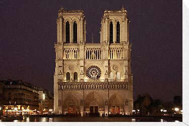 Notre Dame by Streetlight by Stephen Sanderson
