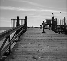 Looking out the pier by Ryan Harvey