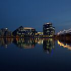 Overlooking Tempe Town Lake at Dusk by Diana Graves Photography