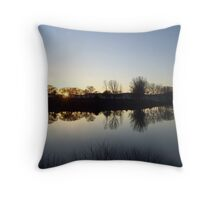 Silhouette at Sundown Throw Pillow