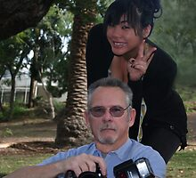 Me and Tracy on a shoot. by CanyonWind