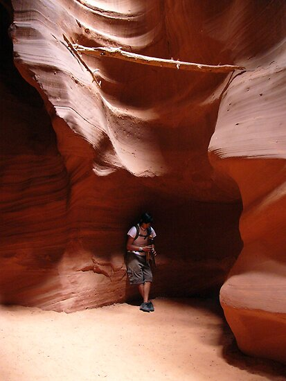 Flute Player at Antelope Canyon by Lucinda Walter