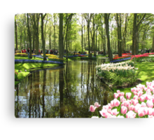 The Lake - Keukenhof Gardens, Holland Canvas Print
