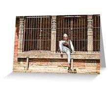 Nepalese Old Man Greeting Card