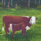 Aww Ma. They're looking at me again ~ oil painting by Barbara Applegate
