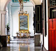 A corridor in Keraton- Sultan Palace, Yogyakarta by Charuhas  Images