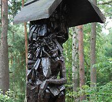 Wayside chapel in the woods by Piotr Kopecki