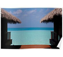 Over Water Villas Medhufushi Maldives Poster