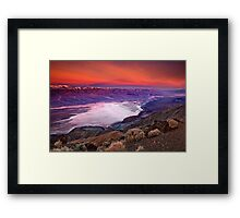 Early Dawn Over Death Valley Framed Print