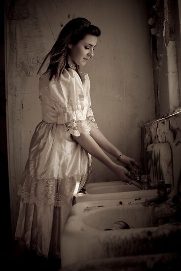 Ghost Girl in the Bathroom by Alex Uvalle