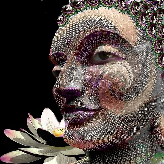 Fractal carving Buddha by Bill Brouard