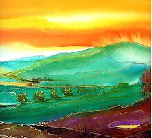 Golden Valley - Fantasy Landscape by © Linda Callaghan