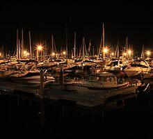 Kelowna Yacht Club by night by Santa Tom Kliner