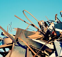 Scenes From the Scrapyard I - Reaching by Leanna Lomanski