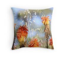 Red Hot at The Springs Throw Pillow