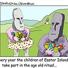 Easter Island by Londons Times Cartoons by Rick  London