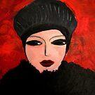 Woman in black by nelly  van nieuwenhuijzen