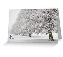 Snow on Beverley Westwood Greeting Card