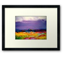Landscape Abstract...Summer Rain Framed Print